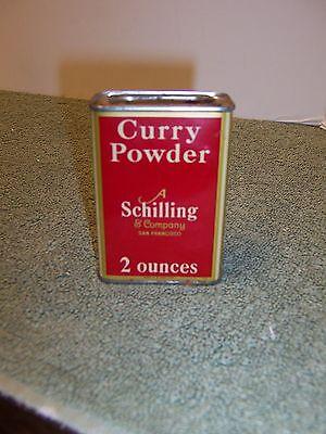 Vintage A Schilling & Company San Francisco Curry Powder Tin 2oz