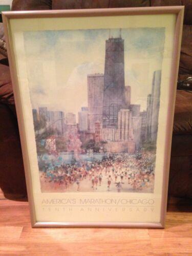 Chicago Marathon Poster 1986 Carolyn Anderson