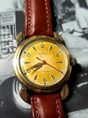 Vintage Helbros Automatic Men's Watch Self-winding Military Fancy Lugs Running