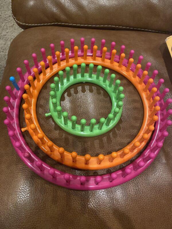 3 Circular, Knitting Looms Boye Brand VGUC