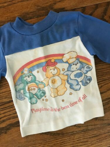 Vtg 1980s 1983 80s Care Bears Cartoon TV Show Infant Long Sleeve T Shirt 12M