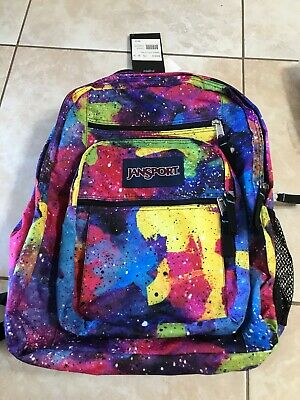 jansport big student backpack Galaxy Neon