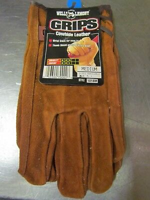 New Wells Lamont Mens Cowhide Heavy Duty Work Gloves Medium 1018m