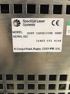 Spectron Laser Systems Ruby Capacitor Tray Sn 11023 Ct1 9718