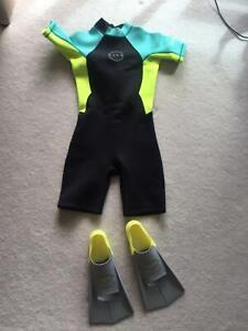 Wetsuit and flippers South Yarra Stonnington Area Preview