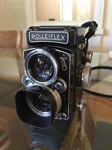 Rolleiflex 2.8D TLR camera plus accessories
