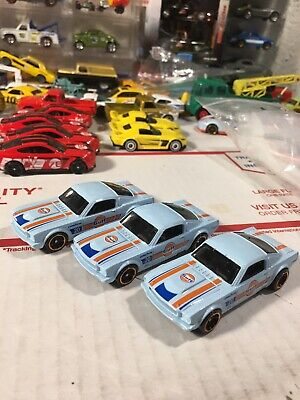 Hot Wheels Gulf 1965 Mustang 2+2 Fastback Dollar General Loose Lot Of 3 (b41)