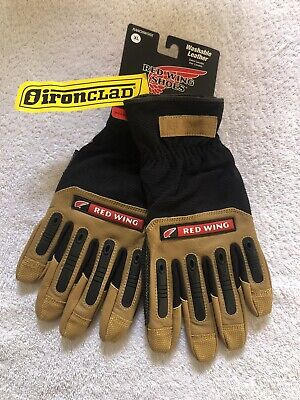 Redwing Ironclad Ranchworx Impact Gloves. Washable Leather. Sz Xl