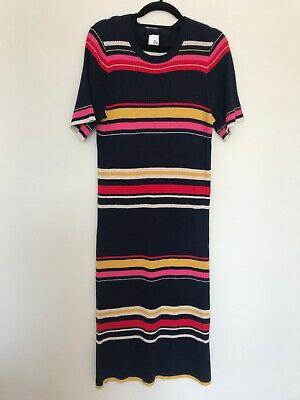 Iris & Ink Striped knit ribbed dress - Size L (would fit M)