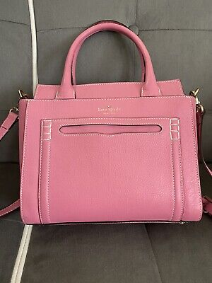 Kate Spade Satchel Handbag Shoulder Bag Pink Leather