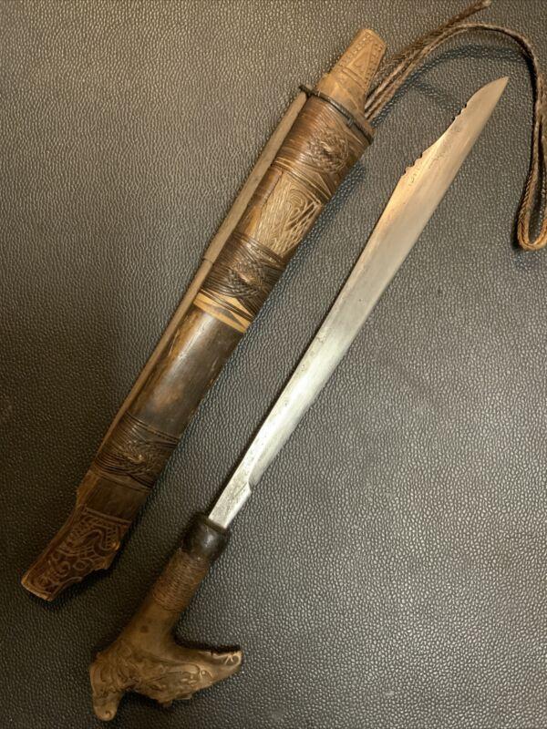 Asian Indonesian 19th C. Borneo Island DAYAK Sword
