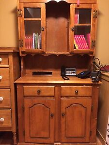 Real wood hutch/ armoire