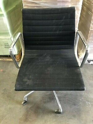 Herman Miller Ea335 Eames Aluminum Group Management Black Fabric Office Chairs