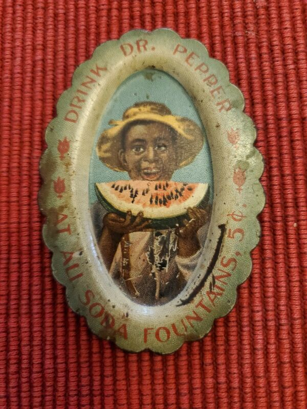 Early Dr Pepper Tip Tray Soda Gas Sign