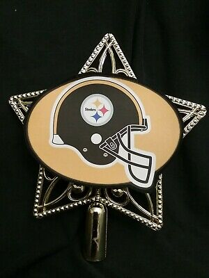 Pittsburgh Steelers Football inspired Christmas Tree Topper Ornament ornaments