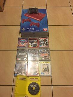 PS3 superslim 500gb console with 3 controllers and 10 games Nerang Gold Coast West Preview