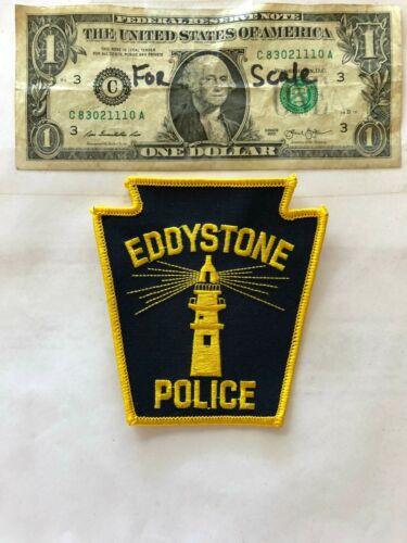 Eddystone Pennsylvania Police Patch un-sewn in mint shape