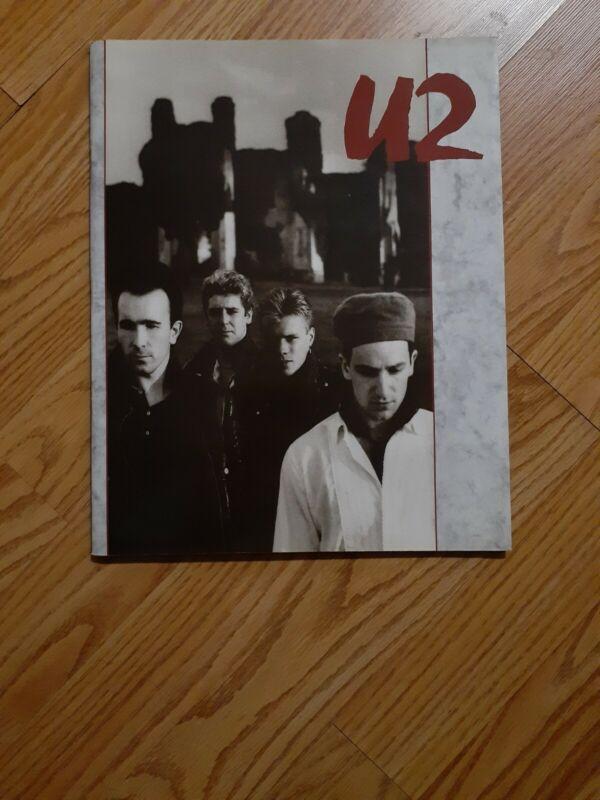 U2 1987 THE UNFORGETTABLE FIRE Concert Tour Program BONO THE EDGE CLAYTON MULLEN