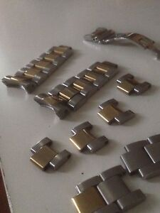 Rolex genuine watch links, can sell pieces or complete Campsie Canterbury Area Preview