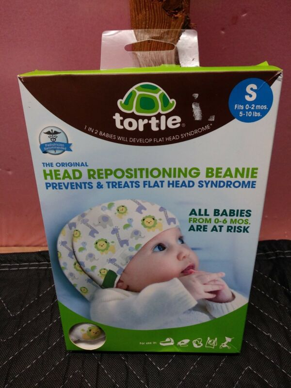 Tortle Head Repositioning Beanie Hats Prevents Flat Head Syndrome - Small