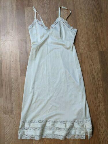 VTG Full Slip Dress Movie Star lace cream ivory  Sz 34  USA