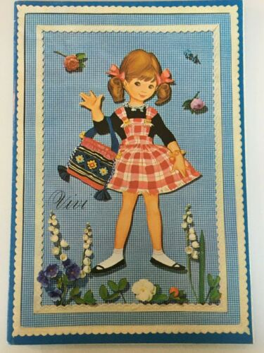Vintage Vivi Copenhagen Carlsen Paper Doll Book Denmark 3033-3 Uncut 1963 Pop Up