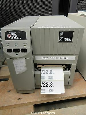 Zebra Z4000 4000-104-00000 Thermal Barcode Label Printer Parallel + Serial DB25