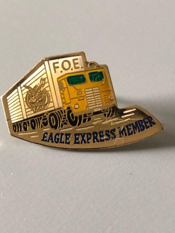 Vintage Fraternal Order Of Eagles Eagle Express Member Pin