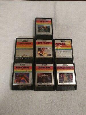 7 ATARI 2600 ( IMAGIC ) VIDEO GAMES DEMON ATTACK FIRE FIGHTER MOON SWEEPER