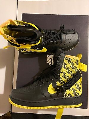 New Nike SF Air Force 1 High Mens Size 11.5 Black Dynamic Yellow AR1955-001 de2c27653