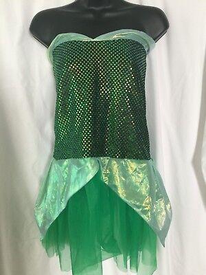Womens/Girls Halloween or Dressup Costume Green strapless dress