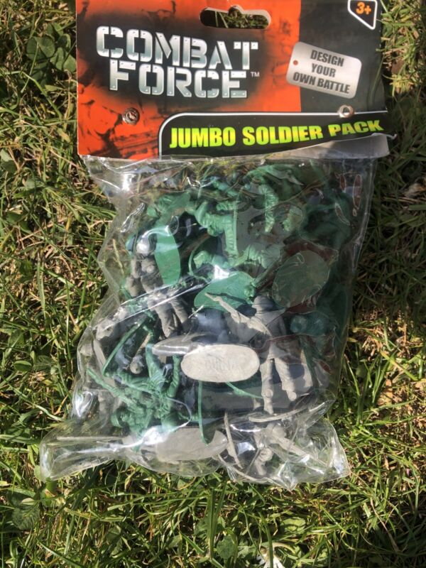 2+X+Packs+Of+Jumbo+Toy+Soldiers+Pack+New+Combact+Force+Free+Postage
