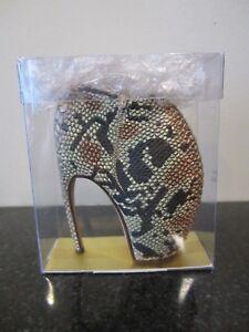 NIB Alexander McQueen Savage Beauty Armadillo Shoe Heel Ornament Met Exhibit