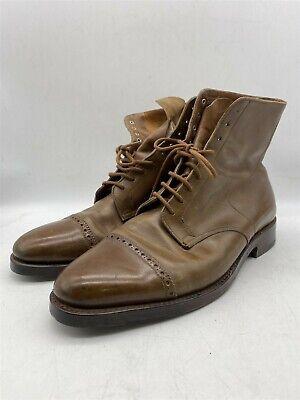 John Lobb MORTON Brown Leather Ankle Smart Formal Boots Shoes Size 9 (Debranded)