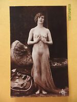 Original French 1910's-1920's Nude Risque Postcard Angelic Lady (22) -  - ebay.co.uk