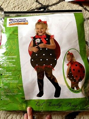 NEW Toddler Lil Lady Bug Costume California Costumes 18-24 MONTHS FREE S/H !!