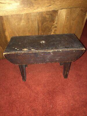 Vintage Rustic Wooden Milking Stool