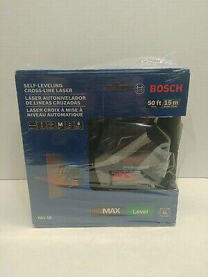 Bosch Gll50 - 50 Ft. Self Leveling Cross Line Laser Level - 000346486711