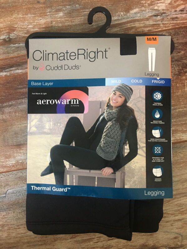 NEW CLIMATE RIGHT CUDDL DUDS M areowarm Legging Base Layer FRIGID Thermal Guard