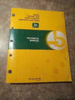 John Deere 8560 8760 8960 Operation And Test Service Repair Shop Manual Tm1434