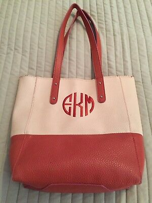 Main Street Collection Ladies Purse Handbag Tote with Monogram EMK - Main Street Collection Monogram