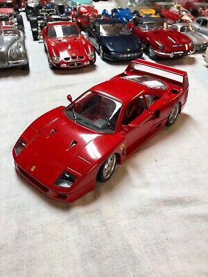 VINTAGE Burago 1:18 1987 Ferrari F40. Made In Italy. Good condition