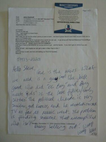Lemmy Kilmister Motorhead Hand Written Signed E-Mail Letter BECKETT Certified #3