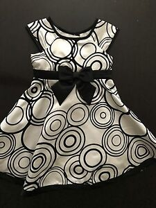 Size 3 black and white dress
