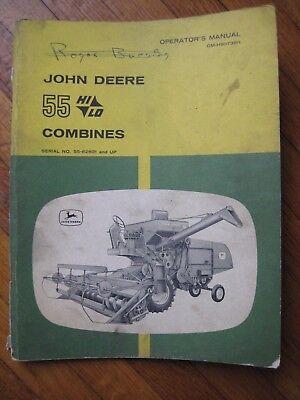 John Deere 55 Combine operators manual ORIGINAL