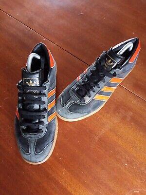 adidas HAMBURG, size 8, black/orange
