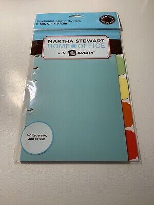 Martha Stewart 5 Tab Discbound Notebook Dividers