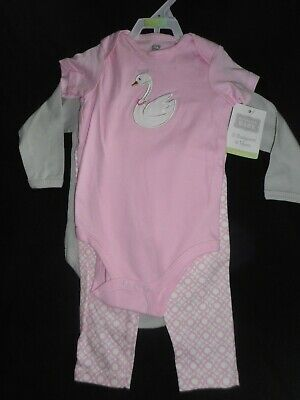 Girls 'HUDSON BABY' 2 x BODYSUITS & TROUSERS, AGE 6-9 MONTHS, New with Tag.