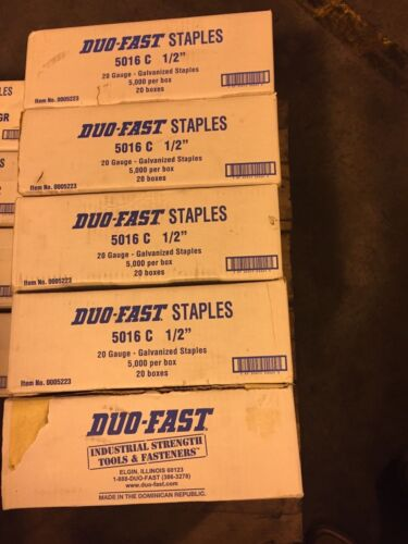 Duo-Fast 5016 staples *2 boxes per lot*