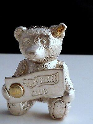 Orig. Steiff Club Bär 925 Silber Nadelbrosche 21.80 g.Massive Juweliersqualität-